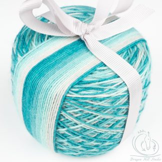self striping sock yarn cake